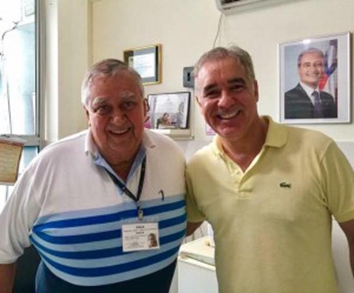 Deputado Zé Neto e o diretor do Hospital Geral Clériston Andrade (HGCA), José Carlos Pitangueira