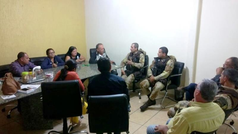 Reunião de segurança em Ipecaetá