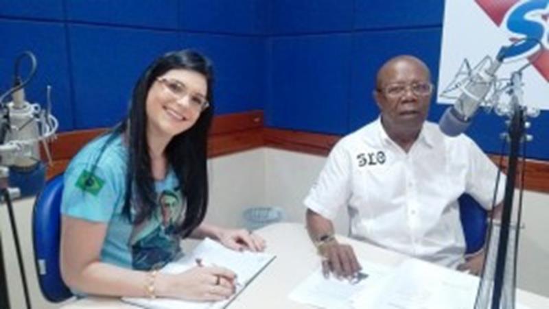 Silverio Silva e a professora Rosely