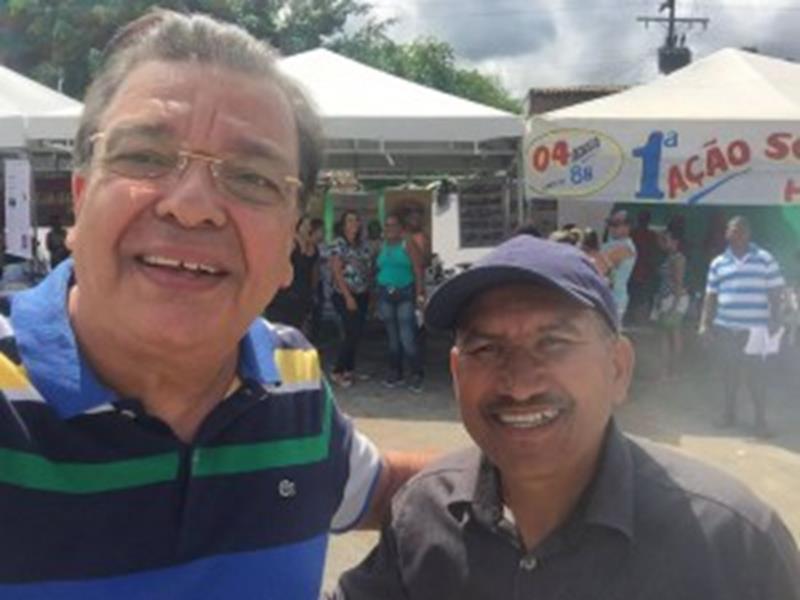 Targino Machado e o vereador Zé Curuca